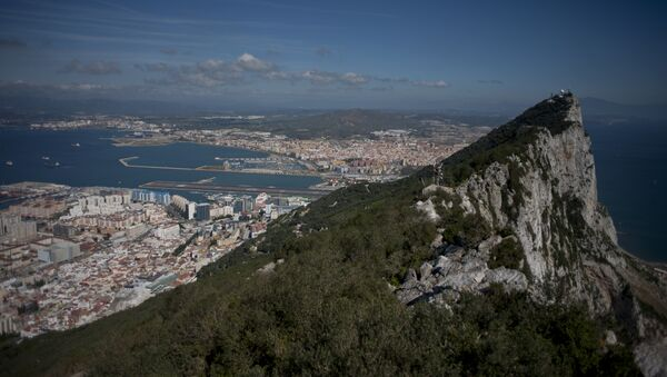 This file photo taken on March 17, 2016 shows the Rock of Gibraltar with Spain in background - Sputnik International