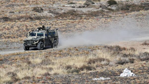 A Tigr armored SUV takes part in the Rubezh/Frontier-2016 tactical exercise involving military units of Collective Rapid-Deployment Forces from countries, members of the Collective Security Treaty Organization (CSTO). (File) - Sputnik International