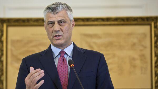 Kosovo President Hashim Thaci during a press conference in capital Pristina, Kosovo. File photo  - Sputnik International
