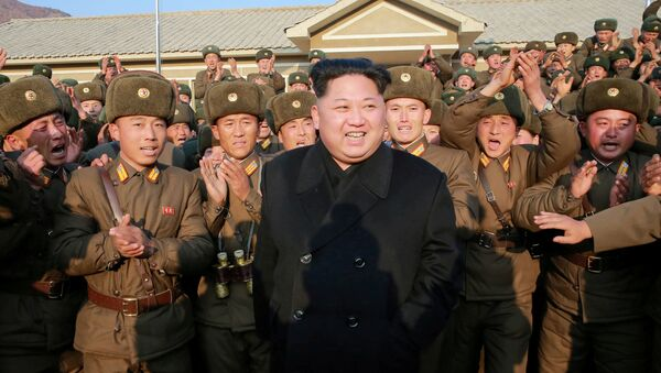 North Korean leader Kim Jong Un inspects a sub-unit under KPA Unit 1344 in this undated photo released by North Korea's Korean Central News Agency (KCNA) in Pyongyang November 9, 2016. - Sputnik International