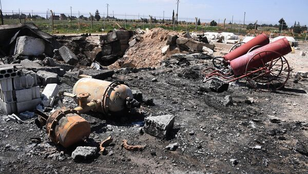 Aftermath of the US missile attack on the Syrian military airbase - Sputnik International