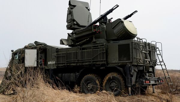 The Pantsir-S1 short range missile and anti-aircraft artillery weapon system is involved in the integrated training on fire control and management of the Far Eastern Military District's Fifth Army at Sergeyevsky base in Primorye Territory. File photo - Sputnik International