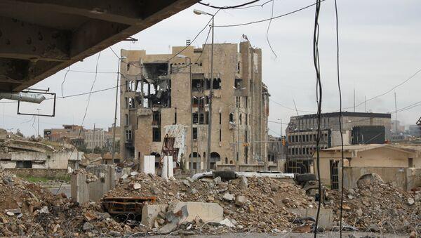 Destroyed buildings in Mosul - Sputnik International