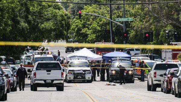 School Shooting Scene in California - Sputnik International