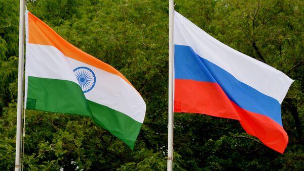 Russian and Indian flags. (File) - Sputnik International