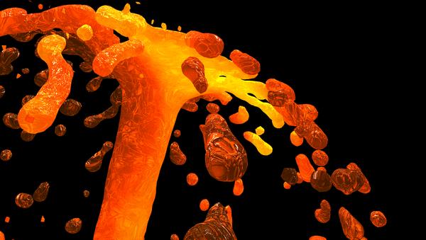 Volcanic lava - Sputnik International