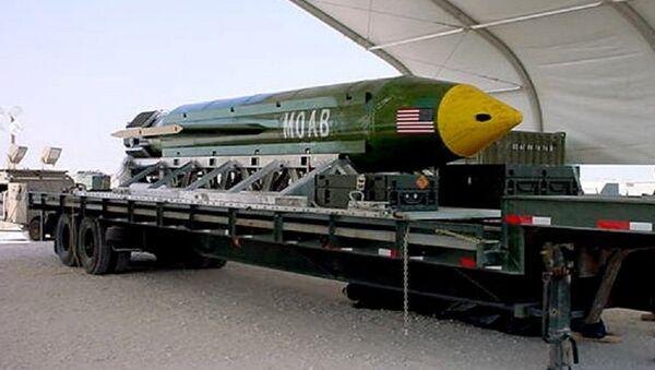 The GBU-43/B Massive Ordnance Air Blast (MOAB) bomb. (File) - Sputnik International