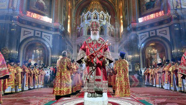 Easter service at Christ the Savior Cathedral - Sputnik International
