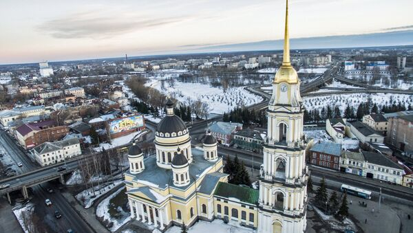 The Transfiguration Cathedral in Rybinsk, on the right bank of the Volga. File photo - Sputnik International