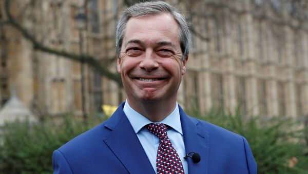 Nigel Farage, former leader of UKIP and anti-EU campaigner stands outside the Houses of Parliament, in London, Britain March 29, 2017. - Sputnik International