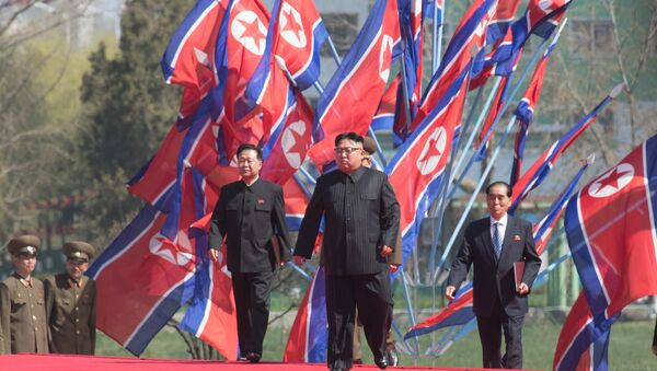 DPRK leader Kim Jong-un at a ceremony to open a new residential area on Ryomyong Street in Pyongyang. - Sputnik International