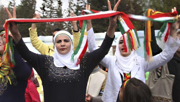 Syrian Kurds dance to celebrate Nowruz, the Kurdish new year, in Damascus, Syria. (File) - Sputnik International