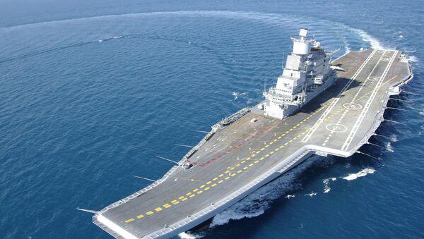 Indian Aircraft Carrier INS Vikramaditya (ex- Gorshkov) during her sea trials - Sputnik International