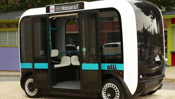 Olli Self-Driving Electric Bus By IBM's Watson And Local Motors - Sputnik International