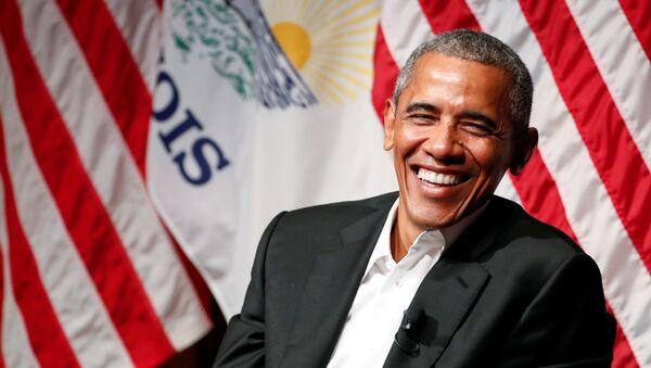 Barack Obama making his first public appearance after leaving office, April 2017 - Sputnik International