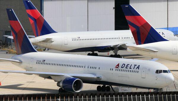 Delta Air Lines jets parked at John F. Kennedy International Airport - Sputnik International