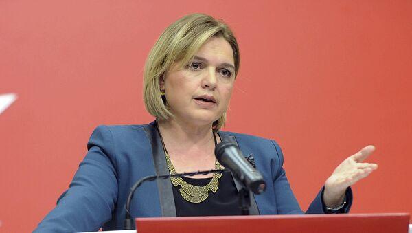 Selin Sayek Boke, the spokeswoman for the main opposition Republican People's Party, speaks to the media in Ankara, Turkey, Monday, March 6, 2017 - Sputnik International
