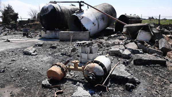 Aftermath of US missile attack on Ash Sha'irat airbase in Syria - Sputnik International