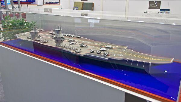 Model of the Project 23000E 'Shtorm', Russia's prospective new carrier design - Sputnik International