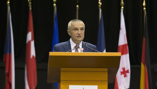 In this Monday, May 30, 2016 file photo, Albania's Parliament Speaker Ilir Meta speaks at the NATO Parliamentary Assembly Spring session in Tirana. - Sputnik International