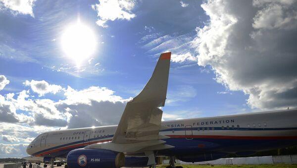 A Tu-214 ON (Open Skies) reconnaissance aircraft. (File) - Sputnik International
