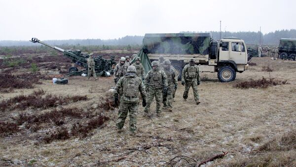 NATO's service personnel during the Operation Summer Shield drill in Latvia. (File) - Sputnik International
