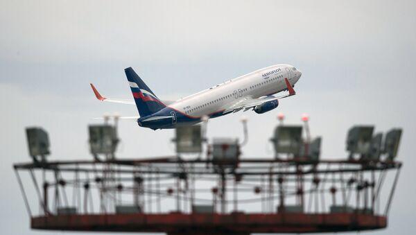 Aeroflot's Boeing 777 takes off at Sheremetyevo international airport. - Sputnik International
