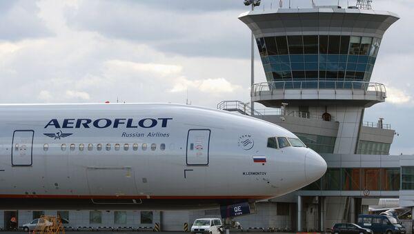 Aeroflot's Boeing 777 at Sheremetyevo international airport. - Sputnik International