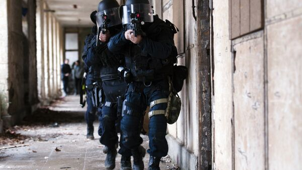 French National Gendarmerie Intervention Group (GIGN) members participate in a training session at the Mondesir base near Etampes, west of Paris. (File) - Sputnik International