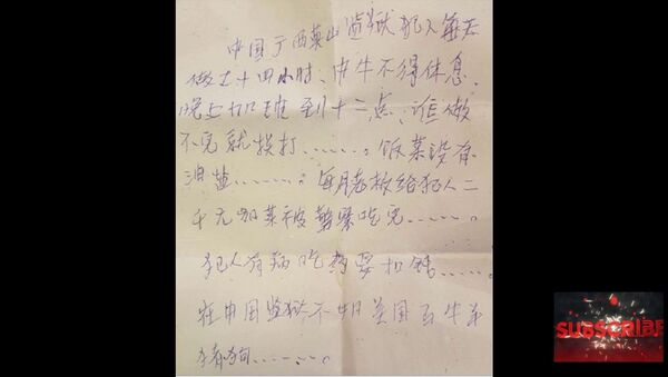 Note found in a Wal-Mart purse claiming to be Chinese 'prisoner.' - Sputnik International