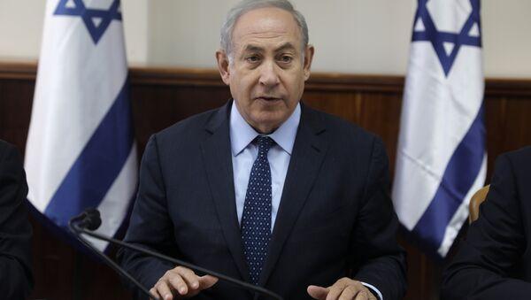 Israeli Prime Minister Benjamin Netanyahu chairs the weekly cabinet meeting in Jerusalem on Wednesday, May 3, 2017. - Sputnik International