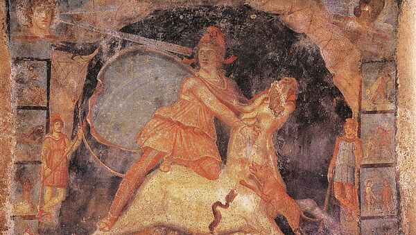 Mithras and the bull, fresco from Temple of Mithras - Sputnik International