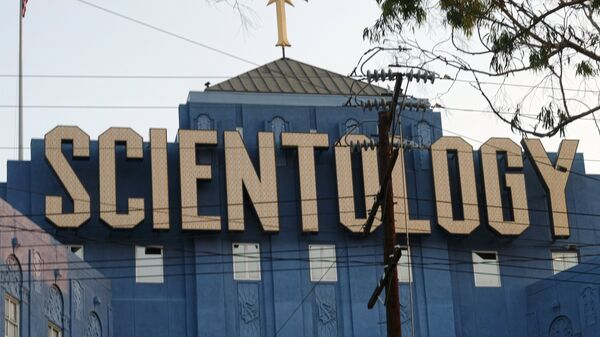 The Scientology Cross is perched atop the Church of Scientology in Los Angeles on Thursday, Aug. 25, 2016. - Sputnik International