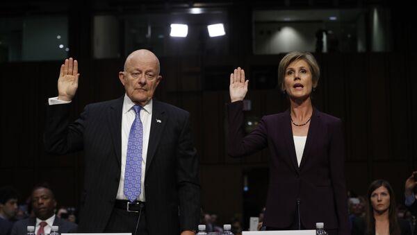 Former acting Attorney General Sally Yates and former National Intelligence Director James Clapper - Sputnik International