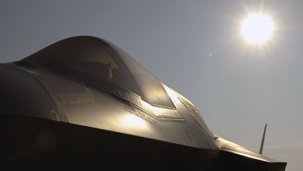 A Marine Corp F-35B Joint Strike Fighter sits on a runway at Patuxent River Naval Air Station, Md - Sputnik International