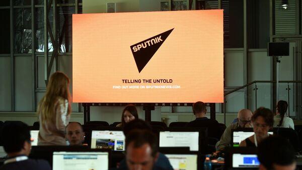 Journalists in the media center - Sputnik International