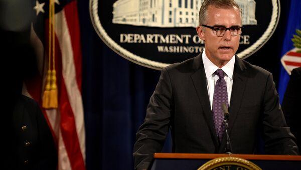 FBI Deputy Director Andrew McCabe. (File) - Sputnik International