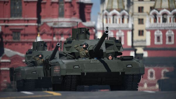 A T-14 Armata tank during the final rehearsal of the military parade in Moscow marking the 72nd anniversary of the WWII victory. File photo - Sputnik International