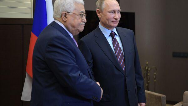 May 11, 2017. President Vladimir Putin and Palestinian President Mahmoud Abbas, left, during a meeting - Sputnik International