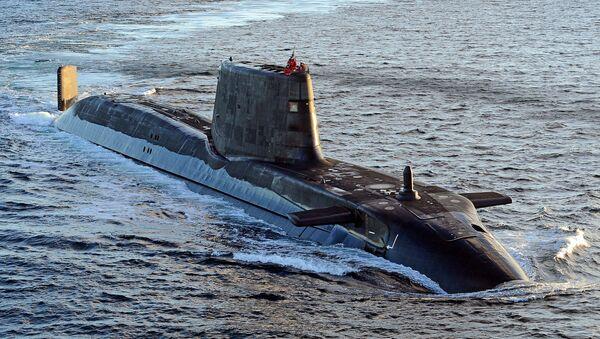 Astute class submarine HMS Ambush is pictured during sea trials near Scotland. - Sputnik International