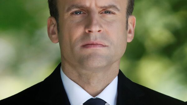 French President-elect Emmanuel Macron attends a ceremony at the Luxembourg Gardens to mark the abolition of slavery and to pay tribute to the victims of the slave trade, in Paris, France, May 10, 2017. - Sputnik International