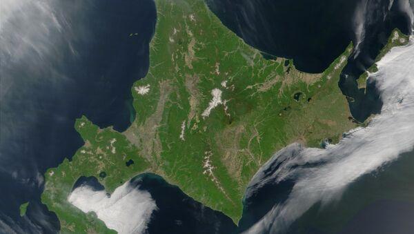Satellite image of Hokkaido, Japan - Sputnik International