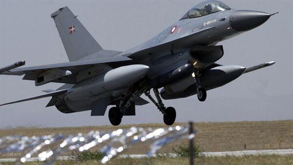 Danish air forces F-16 fighter - Sputnik International