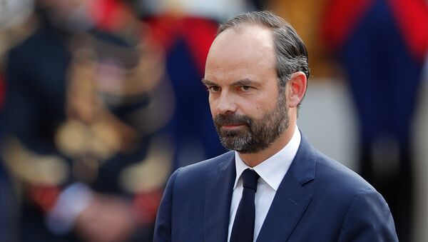 Newly-appointed French Prime Minister Edouard Philippe attends a handover ceremony at the Hotel Matignon, in Paris, France, May 15, 2017 - Sputnik International