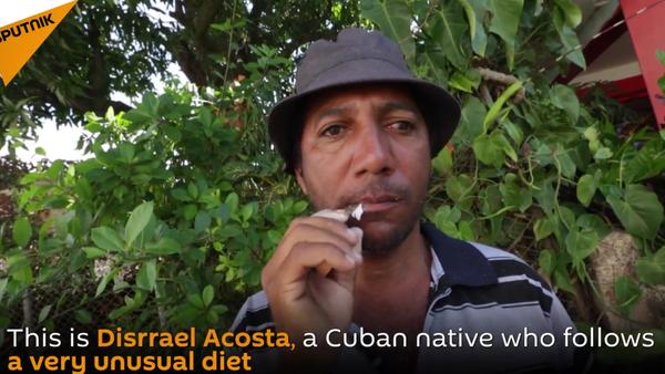 Glass-eater: Cuban Native Follows Very Unusual Diet - Sputnik International