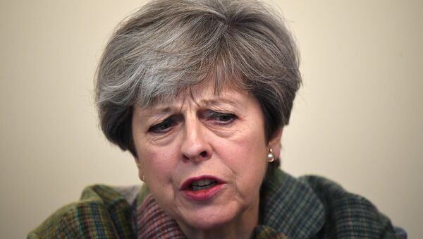 Britain's Prime Minister Theresa May speaks at a campaign event at Tech Pixies, a digital marketing company in Oxford, May 15, 2017. - Sputnik International