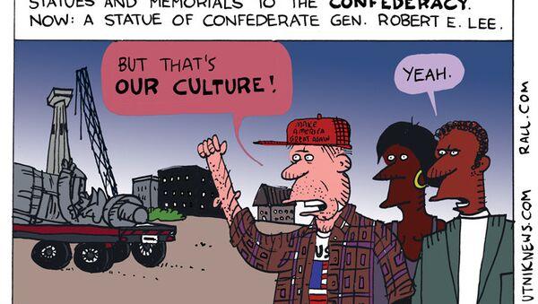 Robert E Lee Statue Cartoon - Sputnik International