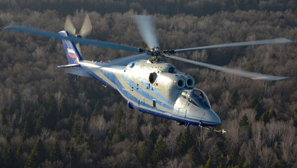 A laboratory helicopter based on the Mi-24K combat helicopter undergoes trials - Sputnik International