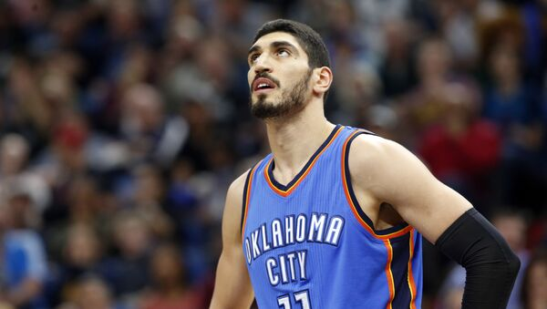 Oklahoma City Thunder's Enes Kanter of Turkey plays during the second half of an NBA basketball game against the Minnesota Timberwolves Tuesday, April 11, 2017, in Minneapolis. - Sputnik International