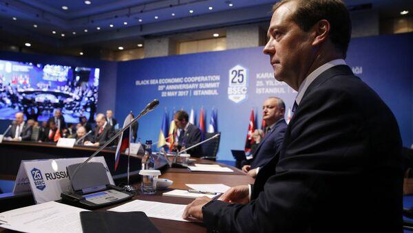 Russian Prime Minister Dmitry Medvedev attends BSEC summit in Istanbul - Sputnik International